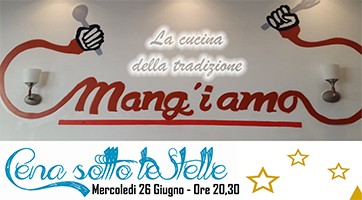 MENU CENA SOTTO LE STELLE TN